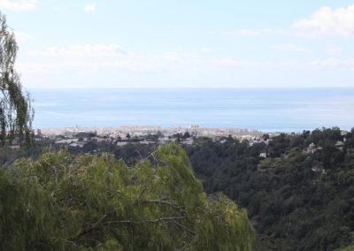 B10 - Udsigt fra terrassen mod Middelhavet.