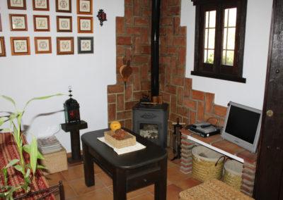 G31 - Stue med TV/DVD og brændeovn.